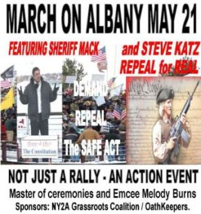 Pro-2A: March on Albany May 21st. Repeal the UnSAFE Act now!!! (updated-Bus info)